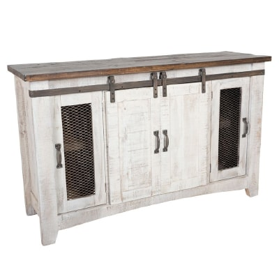 "PUEBLO 60"" BARN DOOR TV STAND"
